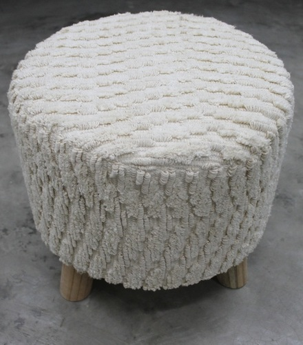 Cotton Knitted Footstool