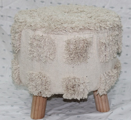 Chunky Knitted Footstool