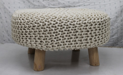 Knitted Flat Footstool