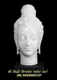 Marble Buddha Head Statue