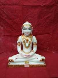Mahavir Swami Marble Statue
