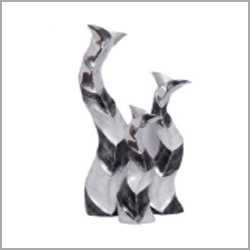 Leaf Metal Vase
