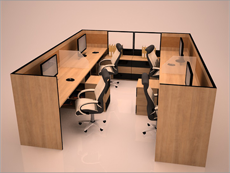 Linear Office Modular Workstations