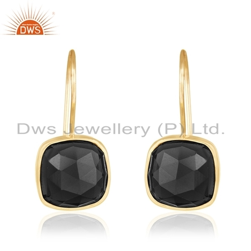 Wholesale Onyx Gemstone Gold Plated Earrings