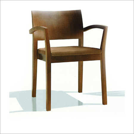 Wooden Dining Chair with Armrest