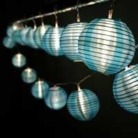 HQOON Globe String Lights with Mini Nylon Lantern