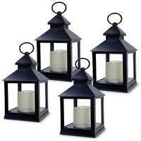Decorative Lanterns - Set of 4 - 5 Hour Timer