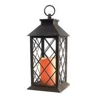 14''Candle Lantern with Flickering Flameless Led Candle