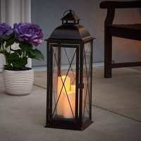 Smart Living Salerno 27-Inch Triple LED Candle Lantern