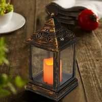 BRIGHT ZEAL Vintage Candle Lanterns with LED Flickering Flameless Candles