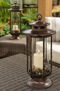 H Potter Small Decorative Hurricane Lantern Glass Candle Holder
