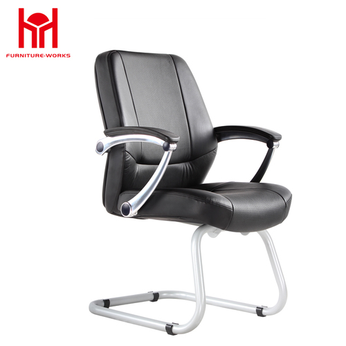 Luxury middle back soft pad pu leather office chair