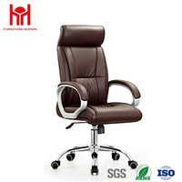 OEM Hardware Furniture Luxury Executive Office Chair In Metal Frame and Leather