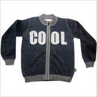 Kids Jacquard Zipper Cardigan