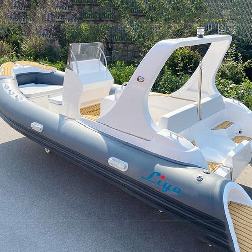 Liya 19ft Semi Rigid Inflatable Rib Boat Fiberglass Hull Sport Boats For Sale