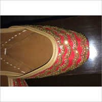 Red Jutti With Golden Work