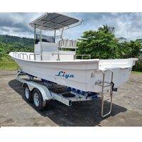 Liya 25ft Panga Boat Fishing Boat Fiberglass Speed Boats For Sale