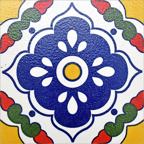Pringting on Designer Colorful Mexican Tiles