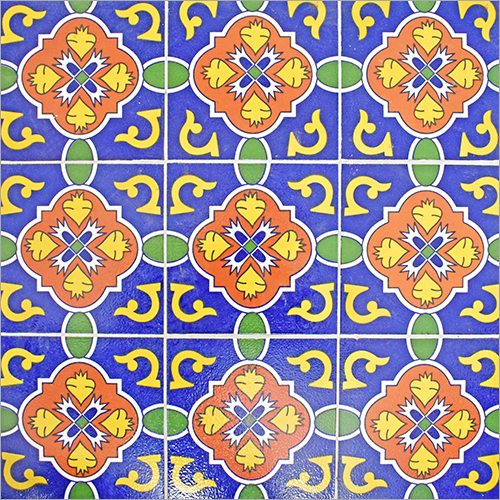 Pringting on Colorful Designer Turkish Tile