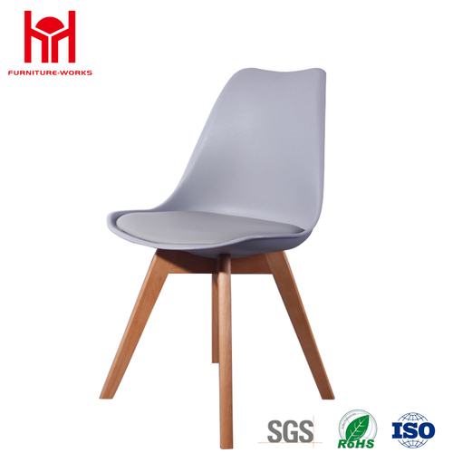 Urban Style Leatherette Padded Wood Legs Dining Chairs