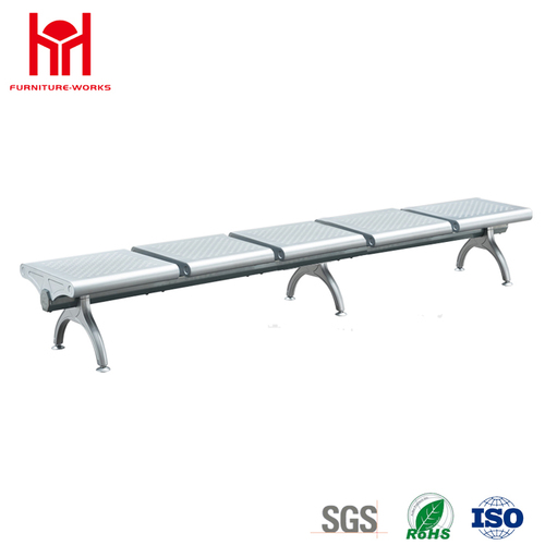 New Arrival 5 Seaters Steel Long Waiting Bench Chair