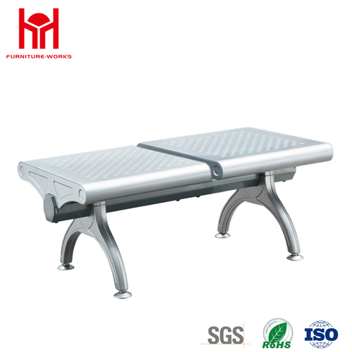 Top Quality 2 Seaters Steel Waiting Chair with 1.2mm Thickness Painted of Armrest