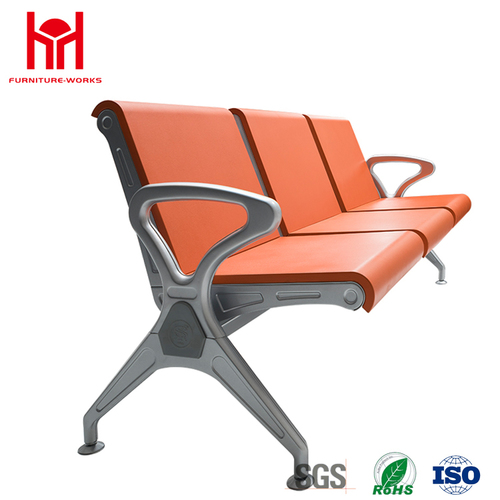 Lowest Price PU Leather Waiting Chair In1, 2, 3, 4, 5 4-Seater