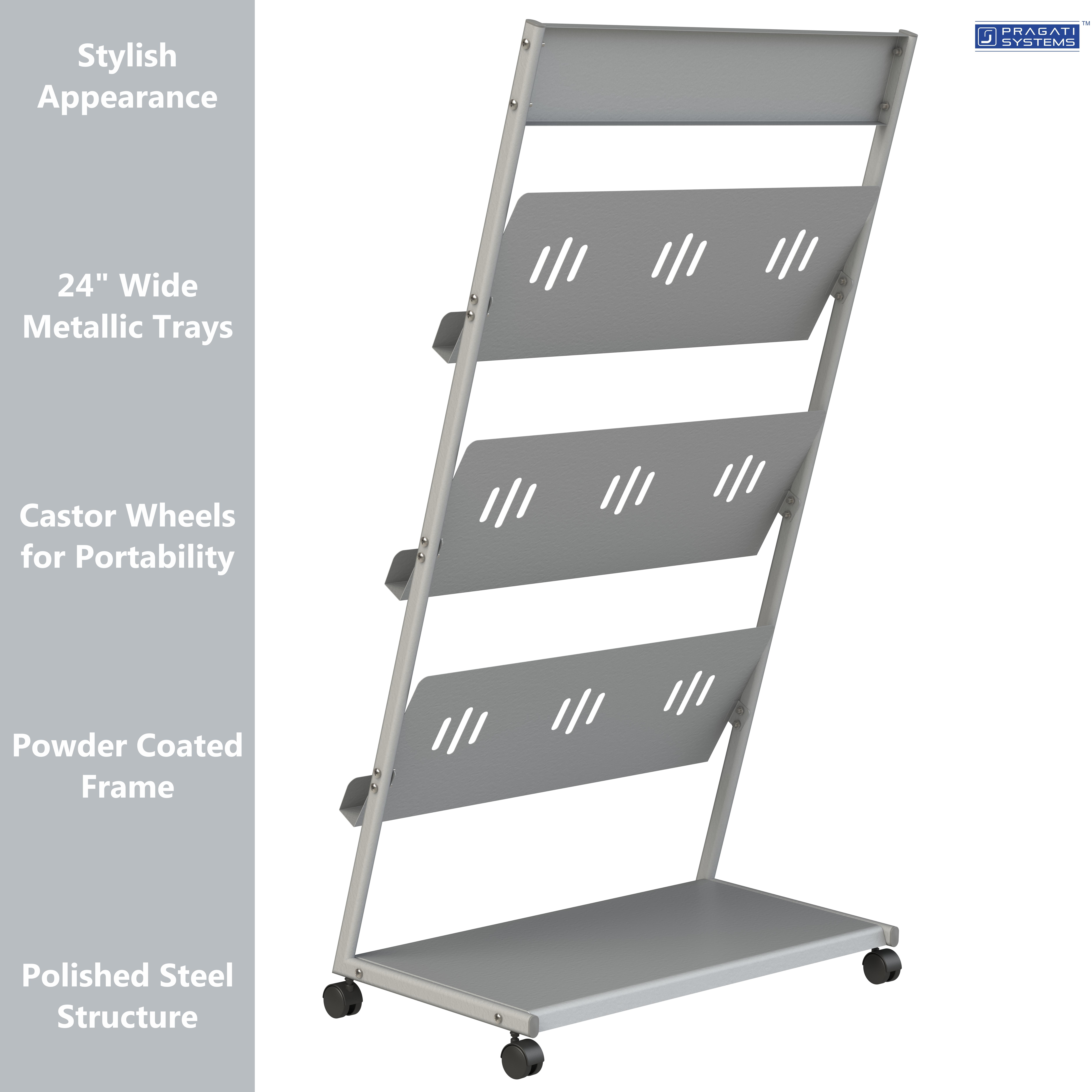 MT-24 Literature Rack & Magazine Display Stand