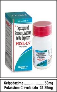 Cefpodoxime 50 mg.+Potassium Clavulanate  31.25 mg.