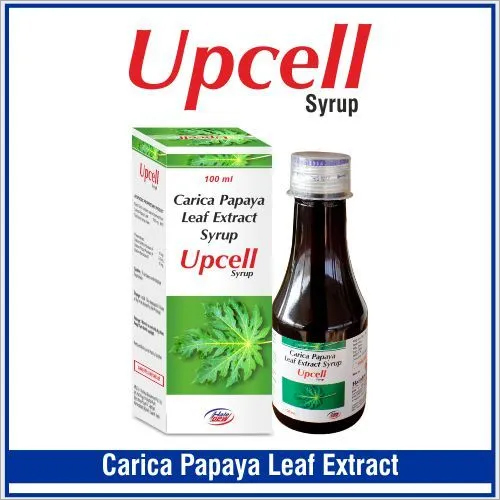 Carica Papaya Leaf 550 mg + Flavoured Syrupy base q.s.