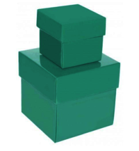 Square Green Laminated Gift Box