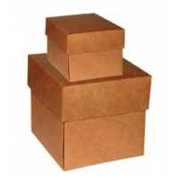 Square Brown Kraft Gift Box