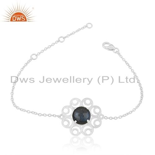 Labradorite Stone Sterling Silver Bracelet