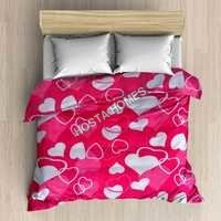 Heart Design AC Blanket Double Bed