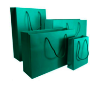 Aqua Green Matt Laminated Carrier Bag