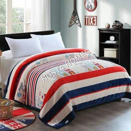 Cartoon Print Double Bed AC Blanket