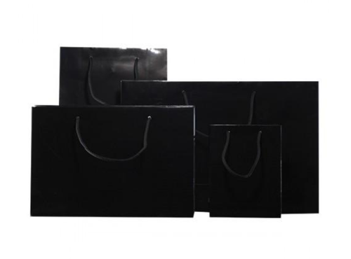 Black Gloss Laminated Carrier Bag