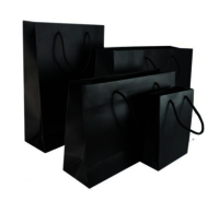 Black Matt Laminated Carrier Bag