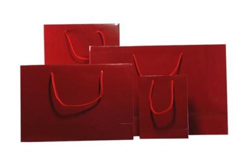 Burgundy Gloss Laminated Carrier Bag