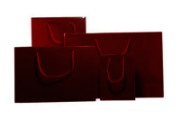 Burgundy Gloss Laminated Carrier Bag