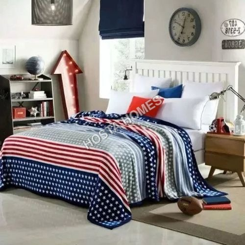 Abstract Design with Star Double Bed AC Blanket