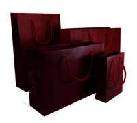 Burgundy Matt Laminated Carrier Bag