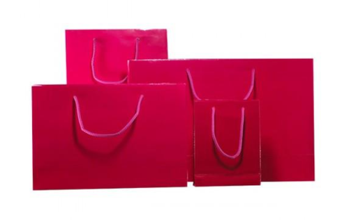 Pink Gloss Laminated Carrier Bag