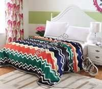 Double Bed AC Blanket with Abstract Design Multi Colour(all weight available)
