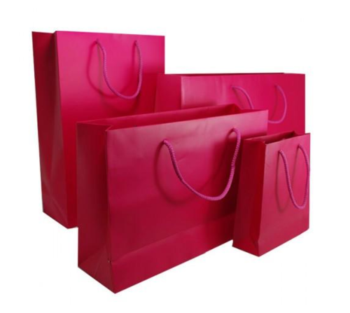 Pink Matt Laminated Carrier Bag