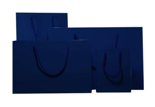 Indigo Blue Gloss Laminated Carrier Bag