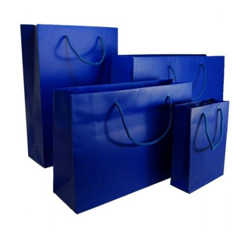 Indigo Blue Matt Laminated Carrier Bag