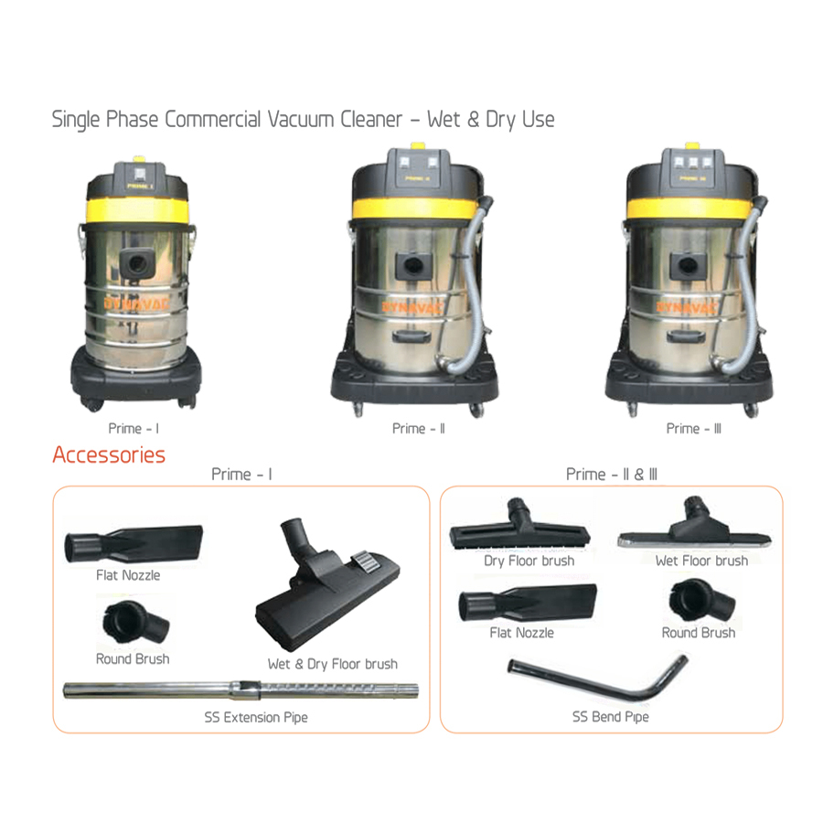 Commercial Single Phase Vacuum Cleaners