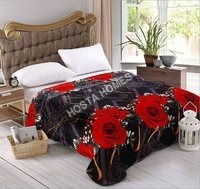 Double Bed AC Blanket Floral design with Pillow Cover(All Weight Available)