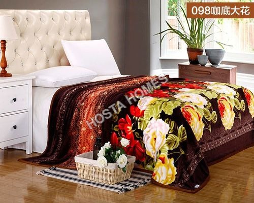 Super Soft Floral Double Bed AC Blanket With Pillow Cover(All Weight Available)